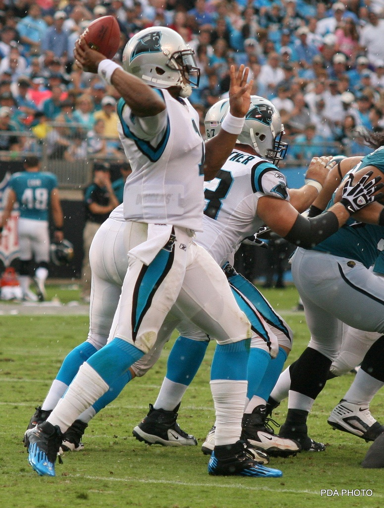 "Newton has the ideal personnel for play action passing, but as Lance Zierlein said weeks ago when we talked ""On the Couch"" with Sigmund Bloom, the zone read offense hinders use of it. it's one of the reasons I wonder if this approach might be hurting the long-term development of quarterbacks. Photo by PDA.Photo"