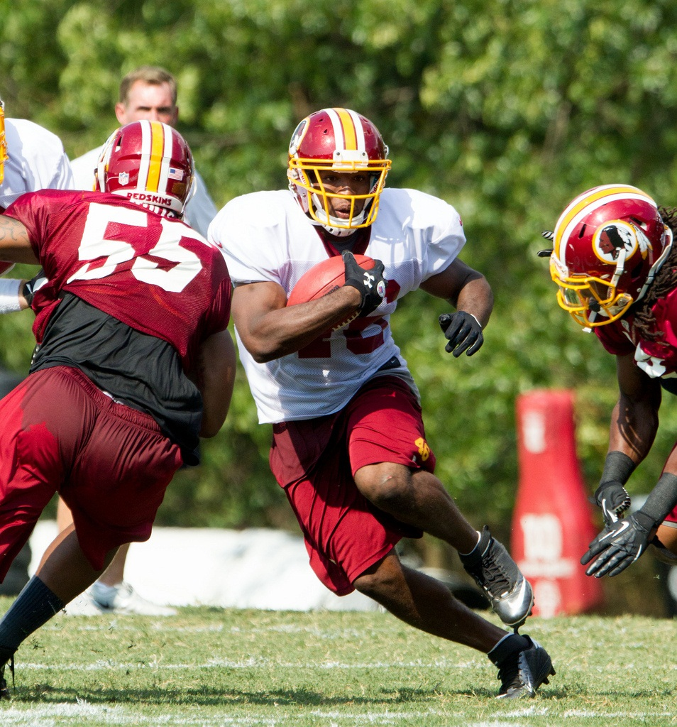 Alfred Morris, the Grinder's grinder. Photo by Keith Allison.