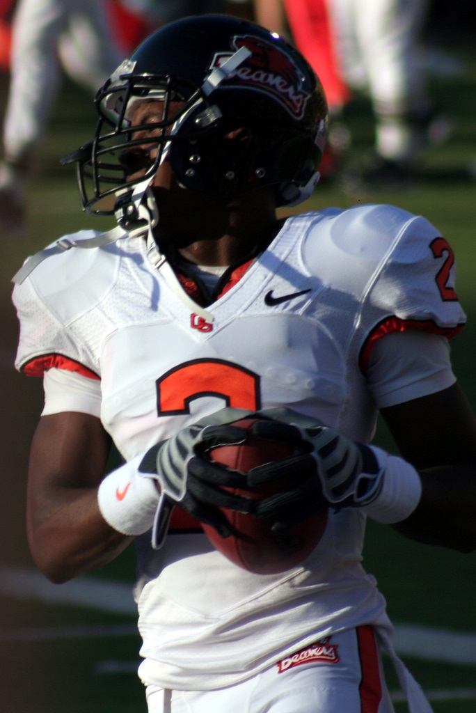 Oregon State's Wheaton shined on the first day of Senior Bowl practices. Photo by John Martinez Pavliga.