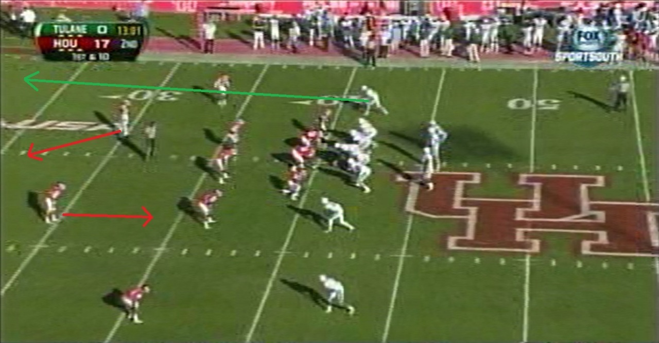 This is the pre-snap look Griffin has, the safety rotation just before the snap, and Griffin's resulting read.