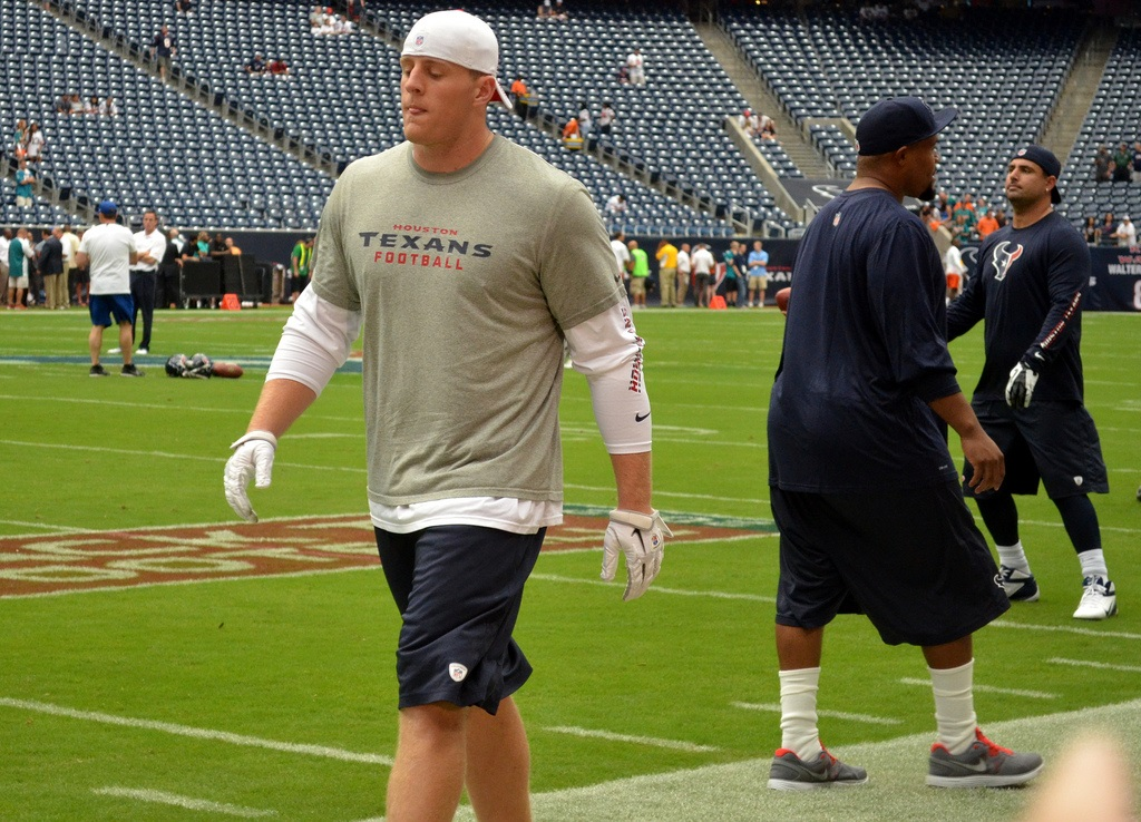 Zierlein jumps off the QB train  with his selection of J.J. Watt as his No.1 pick. Photo by The Brit_2.