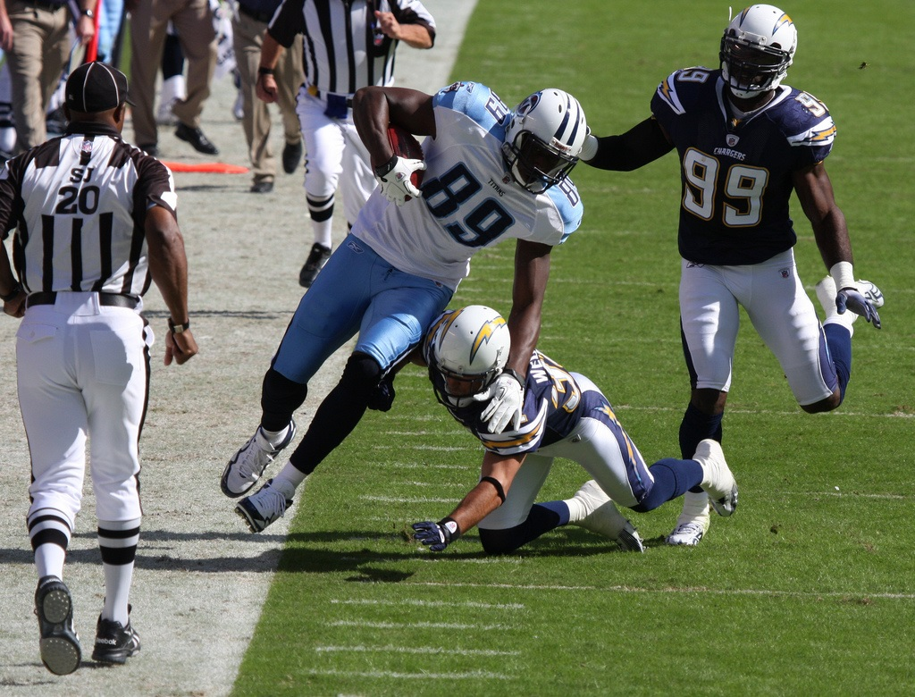 """Cook has the physical skills to be a good """"move tight end."""" Photo by Nathan Rupert."""