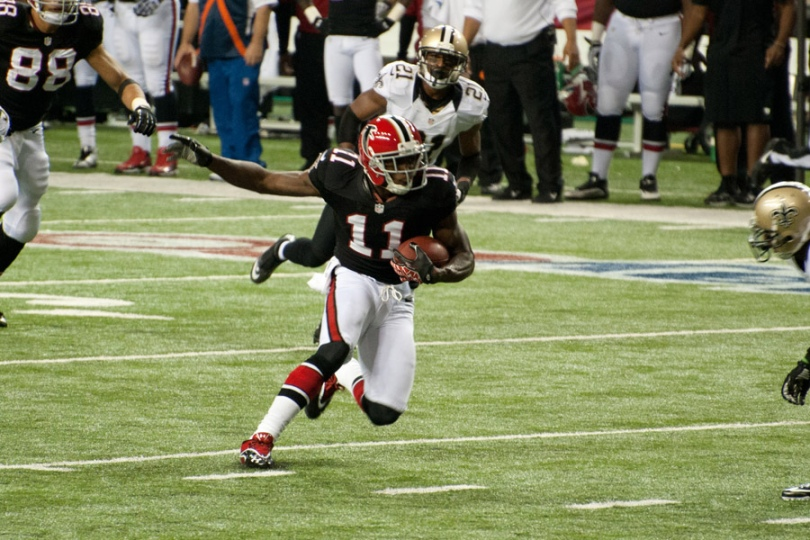 Stuart gets his pitch-and-catch future with Julio Jones paired with Freeman. Photo by Football Schedule.