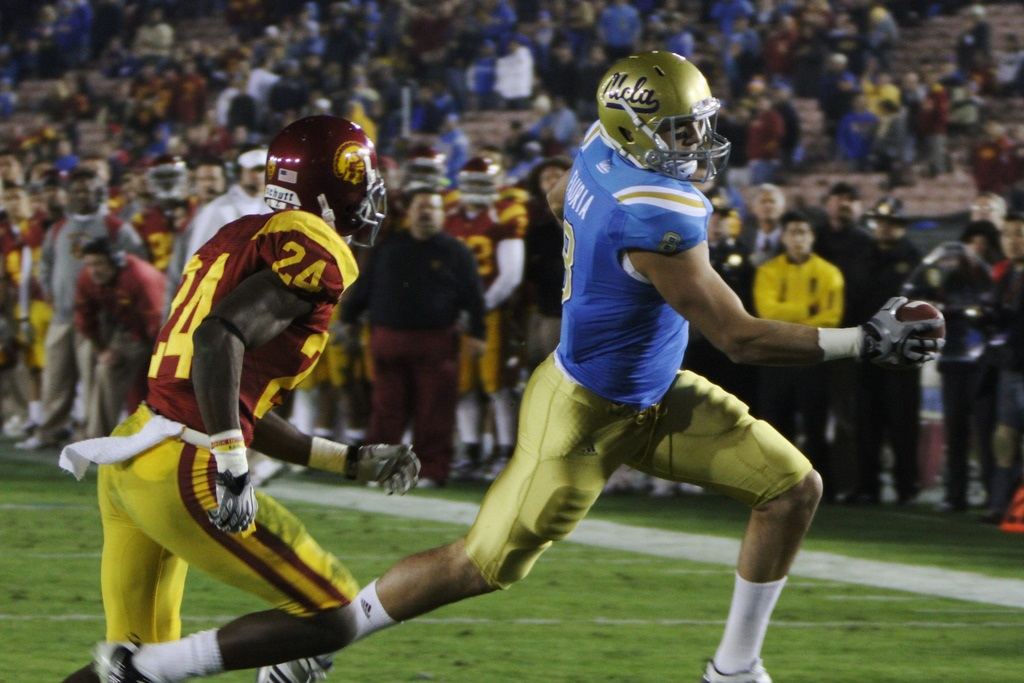 From the gut: Fauria is underrated. From my analysis: I had to underrate him. Photo by Neon Tommy.