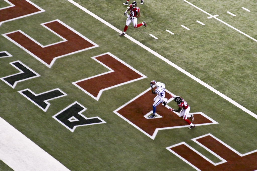 With veteran receivers, it's the first 10 yards that yield the final five. Photo by Dan04.