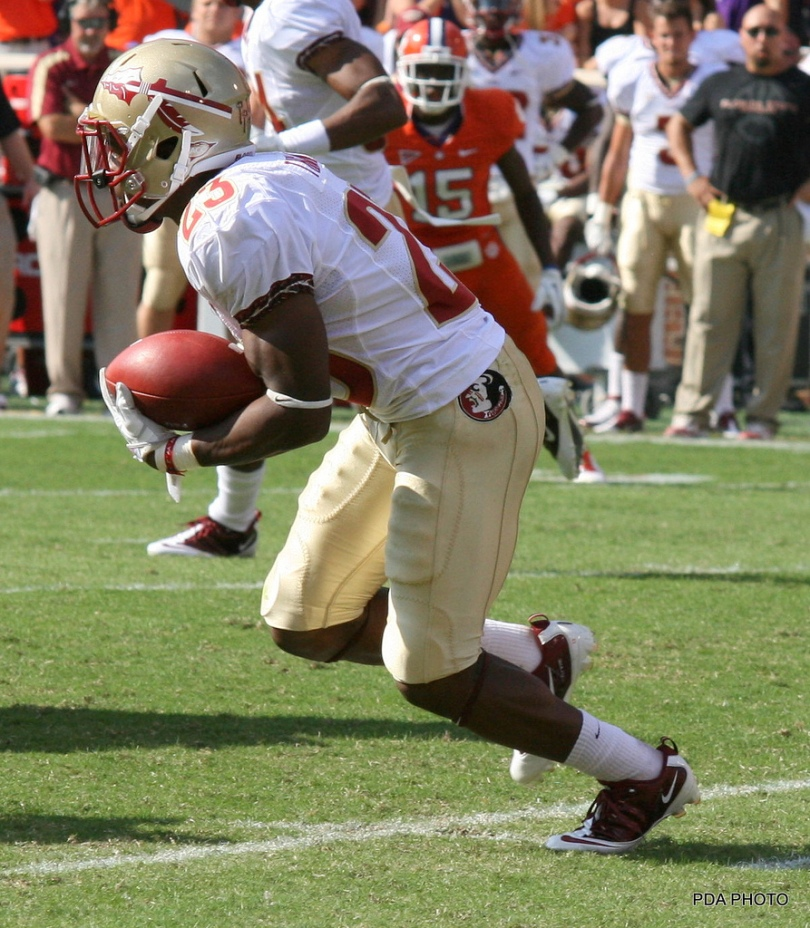 Chris Thompson and Lamichael James have a fair bit in common on the field. Photo by .PDA Photo.