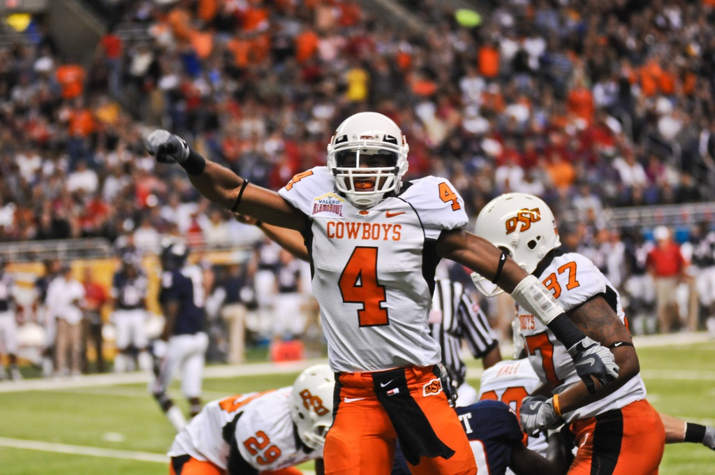 Justin Gilbert has always been a talented athlete, but he has demonstrated technical improvement that is upping his draft stock. Photo by KT King.