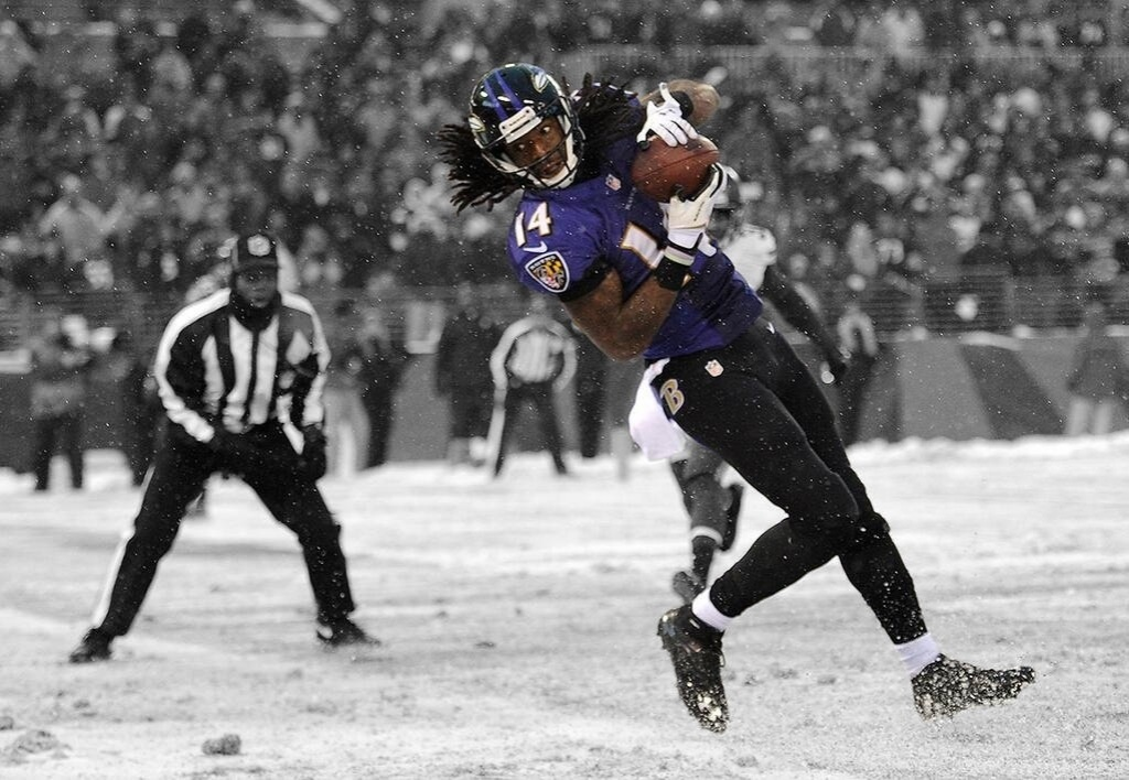 If you bought the 2013 RSP, you knew about UDFA Marlon Brown. It's these types of bargains that make it a fantasy drafter's fave. Photo by Paul M Gardner.