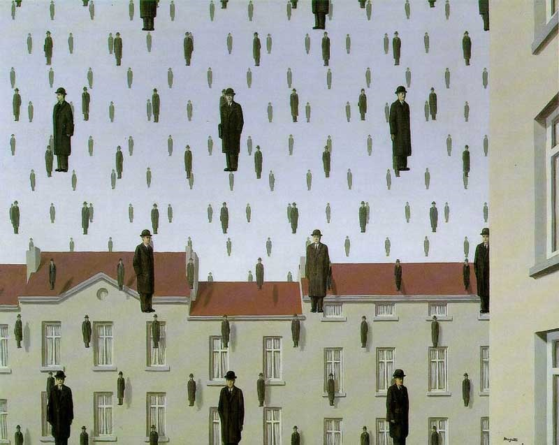 Golconda by Rene Magritte