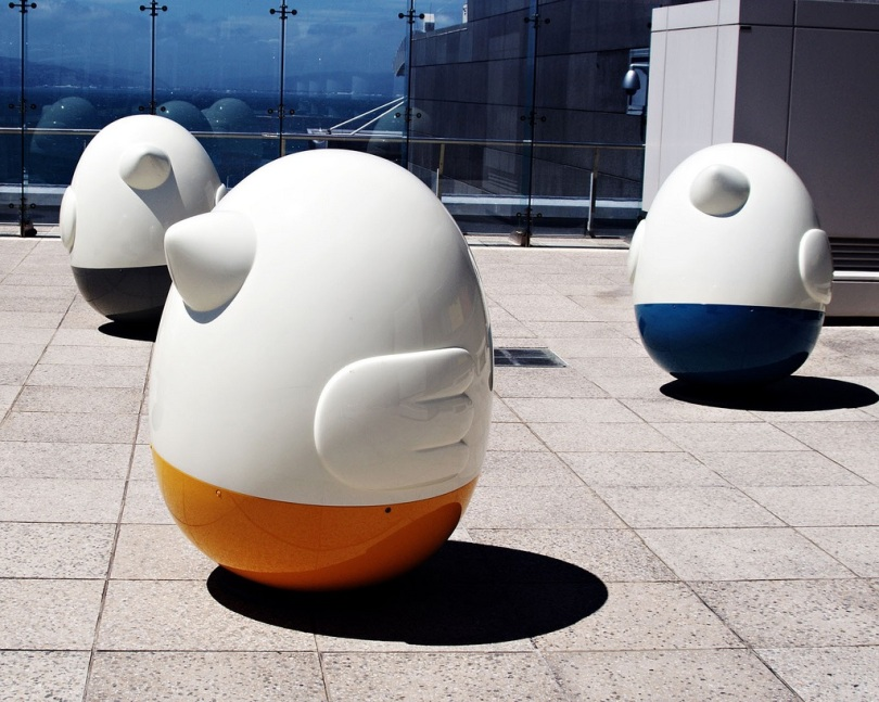 Weebles wobble, but they don't fall down. Photo by Fraser Elliot.