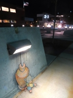 Light Reading. Drawing by David Zinn.