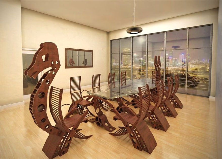Most appropriate for many corporate boardrooms. Wish I had a catapult . . .