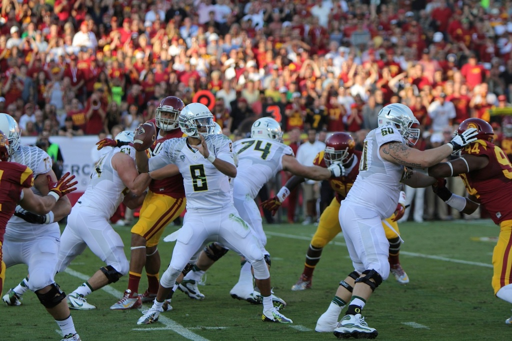 Mariota could be a top-15 pick, but is he worth it? Photo by James Santelli.